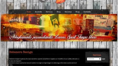 Realizzazione Sito Web per Habanero Design